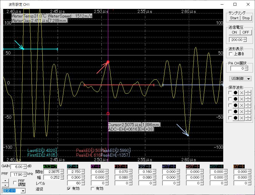 超音波波形制御